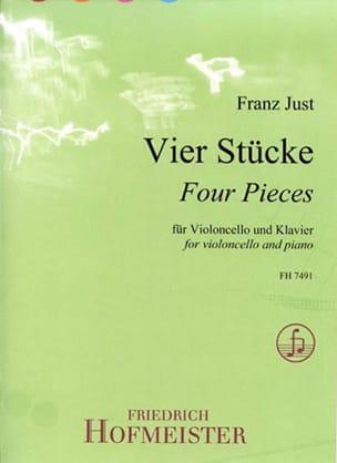 Franz Just - 4 Pieces - Cello and Piano - Sheet Music - di-arezzo.com