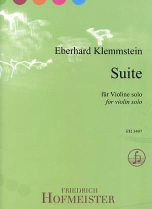 Suite - Violon solo - Eberhard Klemmstein - laflutedepan.com
