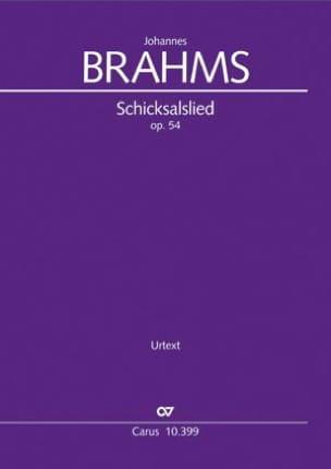 Johannes Brahms - Schicksalslied, op. 54 - Partition - di-arezzo.fr