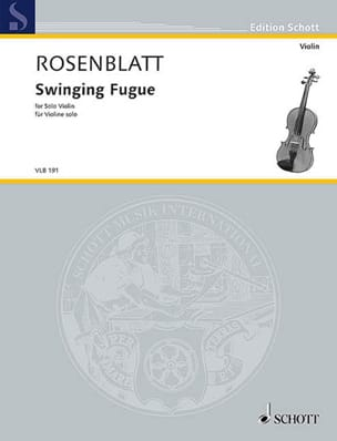 Alexander Rosenblatt - Swinging Fugue - Violon solo - Partition - di-arezzo.fr