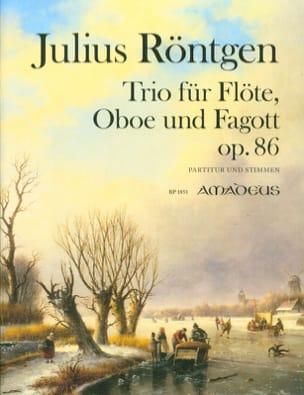 Julius Röntgen - Trio, op. 86 - Flûte, Hautbois et Basson - Partition - di-arezzo.fr