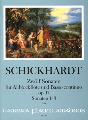 Johann Christian Schickhardt - 12 Sonatas, op. 17 - Vol. 1 - Alto and BC Recorder - Sheet Music - di-arezzo.com