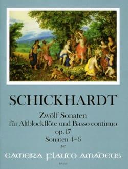 12 Sonates, op. 17 - Vol. 2 - Flûte à Bec alto et BC laflutedepan