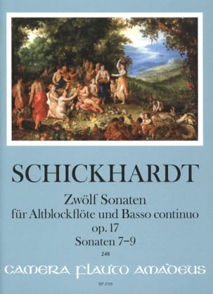 Johann Christian Schickhardt - 12 Sonatas, op. 17 - Vol. 3 - Alto Recorder and BC - Sheet Music - di-arezzo.com