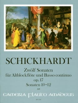 Johann Christian Schickhardt - 12 Sonatas, op. 17 - Vol. 4 - Alto and BC Recorder - Sheet Music - di-arezzo.com