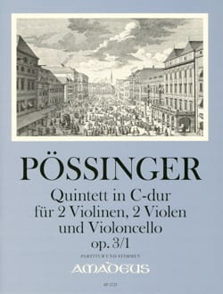 Franz Alexander Pössinger - String Quintet in C Major, opus 3 n ° 1 - Sheet Music - di-arezzo.co.uk