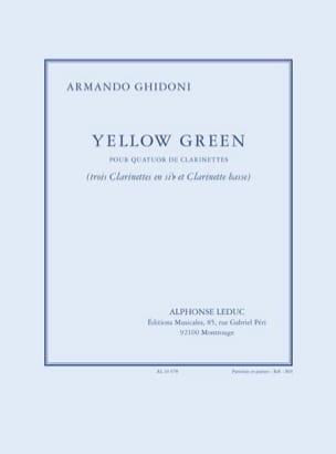 Armando Ghidoni - Yellow Green - 4 Clarinets - Sheet Music - di-arezzo.co.uk