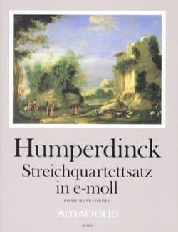 Engelbert Humperdinck - Quartettsatz in e-moll op. post - Partition - di-arezzo.fr