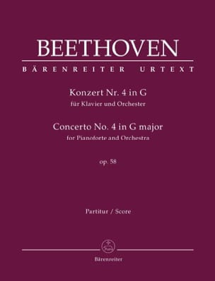 Ludwig van Beethoven - Concerto pour piano n° 4 en Sol Majeur, op. 58 - Partition - di-arezzo.fr