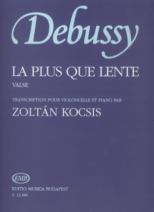 DEBUSSY - The more than slow - Cello and piano - Sheet Music - di-arezzo.co.uk