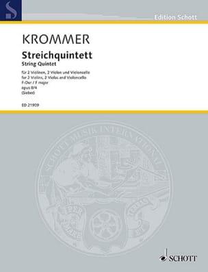 Franz Krommer - Streichquintett, opus 8/4 - Partition - di-arezzo.fr