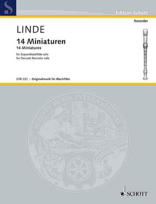 Hans Martin Linde - 14 Miniatures - Partition - di-arezzo.fr