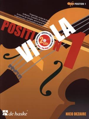 Nico Dezaire - Position 1 - Viola (+ 2 CDs) - Partition - di-arezzo.fr