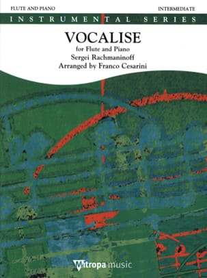 RACHMANINOV - Vocalise - Flute and piano - Sheet Music - di-arezzo.com