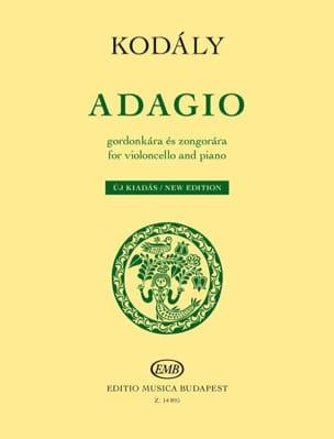 Zoltan Kodaly - Adagio - Violoncelle et piano - Partition - di-arezzo.fr