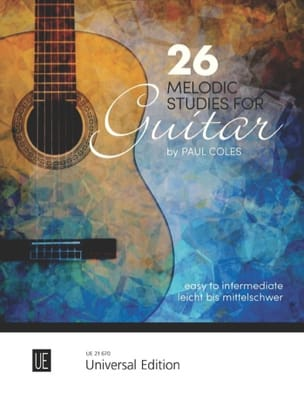 26 Melodic Studies - Guitare Paul Coles Partition laflutedepan