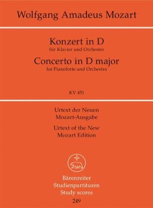 Klavierkonzert D-Dur Kv 451 - MOZART - Partition - laflutedepan.com