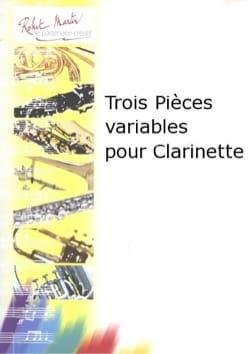 Jean-Michel Defaye - Trois pièces variables pour clarinette - Partition - di-arezzo.fr