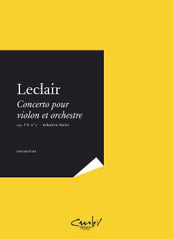 Jean-Marie Leclair - Concerto for violin and orchestra op 7 n ° 5 in A minor - Partition - di-arezzo.co.uk