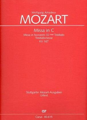 Messe en Ut Majeur, Kv 167 - Conducteur - MOZART - laflutedepan.com
