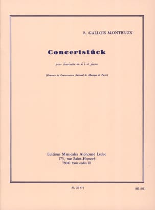 Raymond Gallois-Montbrun - Concertstuck - Sheet Music - di-arezzo.co.uk
