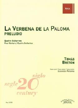 la Verbena de la Paloma - Preludio - 4 Guitares - laflutedepan.com