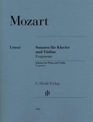 Wolfgang Amadeus Mozart - Sonatas - Fragments - Violin and piano - Sheet Music - di-arezzo.com