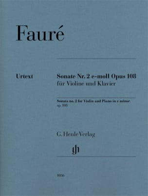 Gabriel Fauré - Sonata No. 2 in E minor, Op. 108 - Violin and Piano - Sheet Music - di-arezzo.com