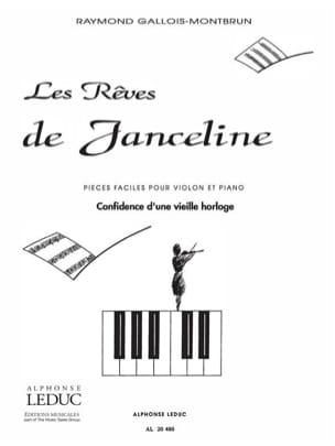 Raymond Gallois-Montbrun - Confidence of an old clock - Sheet Music - di-arezzo.com