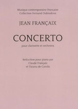 Jean Françaix - Clarinet Concerto - Clarinet and Piano - Sheet Music - di-arezzo.co.uk