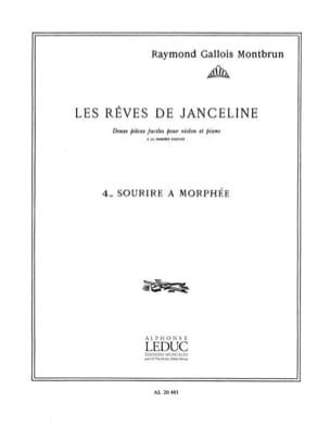 Raymond Gallois-Montbrun - Sourire à Morphée - Partition - di-arezzo.fr
