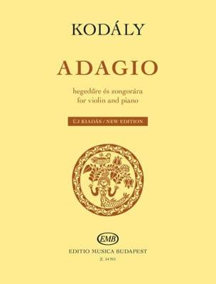 Zoltan Kodaly - Adagio - Violon et piano - Partition - di-arezzo.fr