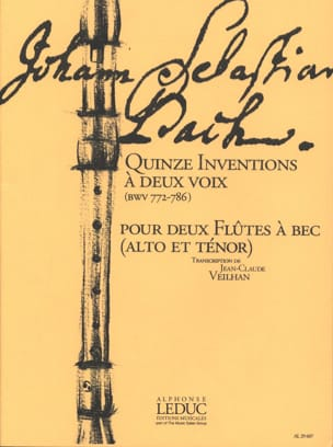 Sebastian Bach Johann - Fifteen inventions has two votes BWV 772-786 - Sheet Music - di-arezzo.com