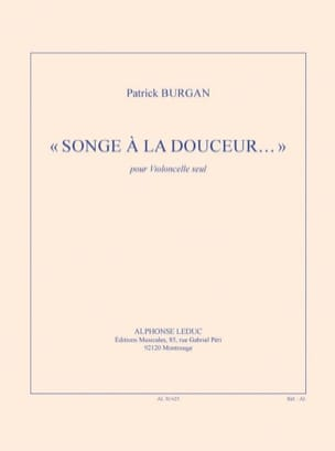 Patrick Burgan - Think of sweetness ... - Cello Solo - Sheet Music - di-arezzo.co.uk