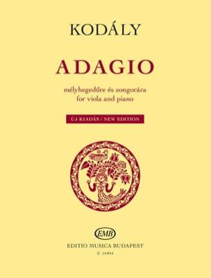 Adagio - Alto et piano - Zoltan Kodaly - Partition - laflutedepan.com