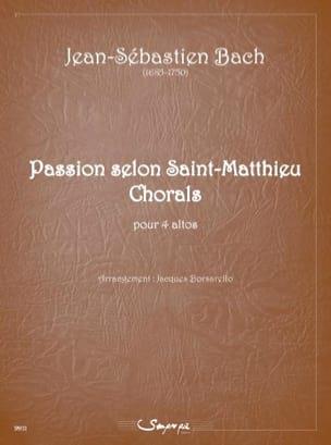 Passion selon saint Matthieu BACH Partition Alto - laflutedepan