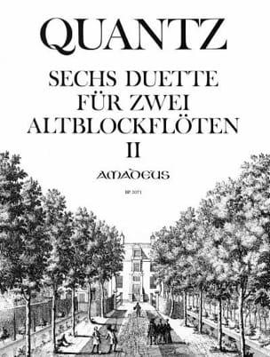 Johann Joachim Quantz - 6 Duette op. 2 Band 2 Sonaten 4-6 - Partition - di-arezzo.fr