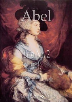 Carl Friedrich Abel - Trio en Ré Majeur, op. 16 n° 2 - 2 Flûtes et Violoncelle - Partition - di-arezzo.fr
