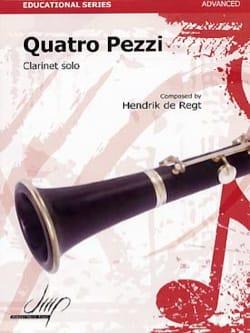 Regt Hendrick De - Quatro Pezzi - Partition - di-arezzo.fr