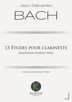 Johann Sebastian Bach - 13 études pour clarinette - Partition - di-arezzo.fr