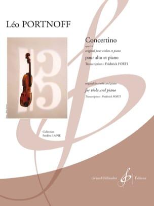 Leo Portnoff - Concertino, opus 14 - Alto et piano - Partition - di-arezzo.fr