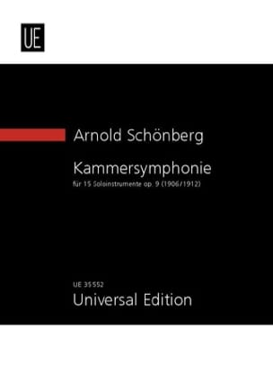 Arnold Schoenberg - Kammersymphonie, op. 9 - Partition - di-arezzo.fr