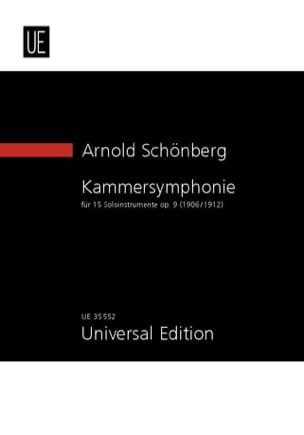 Kammersymphonie, op. 9 - SCHOENBERG - Partition - laflutedepan.com