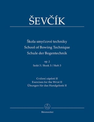 Otakar Sevcik - School of bowing technique, op. 2 Vol. 3 - Partition - di-arezzo.fr