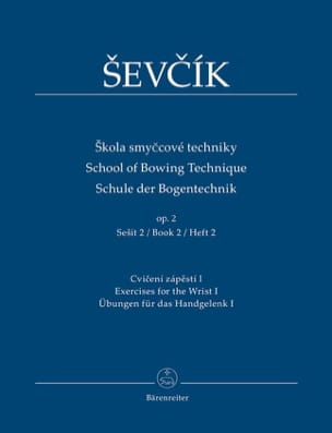 School of bowing technique, op. 2 Vol. 2 Otakar Sevcik laflutedepan