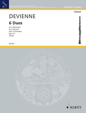 Francois Devienne - 6 Duos, Opus 74 - 2 Clarinets - Sheet Music - di-arezzo.co.uk