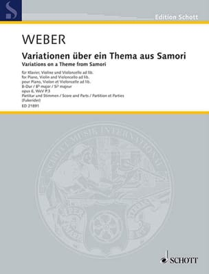 Carl Maria von Weber - Variations on a theme of Samori, op. 6 - Sheet Music - di-arezzo.com