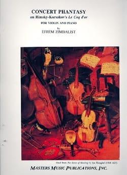 Efrem Zimbalist - Phantasy Concert - Sheet Music - di-arezzo.com
