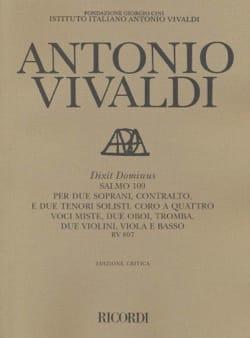 VIVALDI - Dixit Dominus Salmo 109 RV 807 - Sheet Music - di-arezzo.com