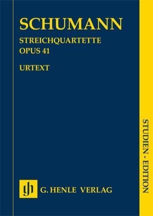 SCHUMANN - Quatuors à Cordes, opus 41 - Conducteur - Partition - di-arezzo.fr